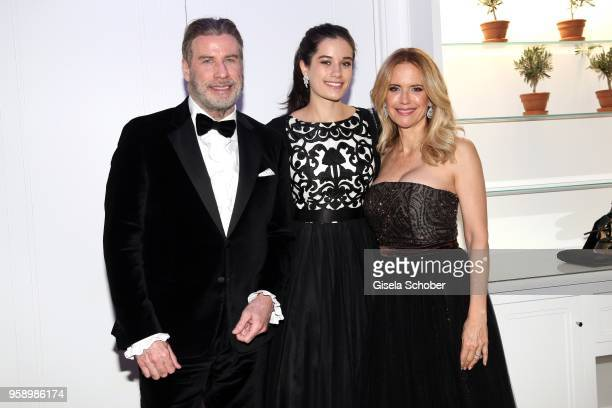 John Travolta and his wife Kelly Preston and daughter Ella Bleu Travolta during the party in Honour of John Travolta's receipt of the Inaugural...
