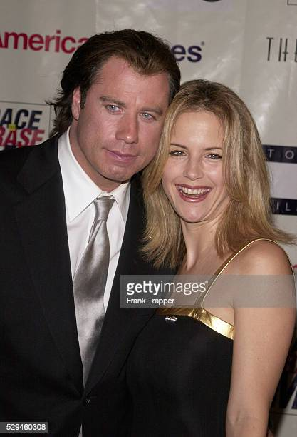 John Travolta and his wife Kelly Preston arrive at the 8th annual Race to Erase MS gala 'Rock and Soul to Erase MS' The event was sponsored by Tommy...