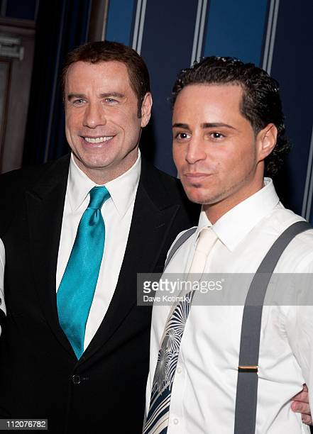 John Travolta and John Gotti Agnello attend the celebration of Frank Gotti's 21st birthday with the cast of Gotti Three Generations at the Sheraton...