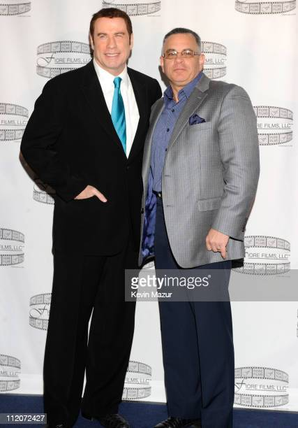 John Travolta and John Gotti Jr attends the 'Gotti Three Generations' press conference at Sheraton New York Hotel Towers Central Park West Room on...