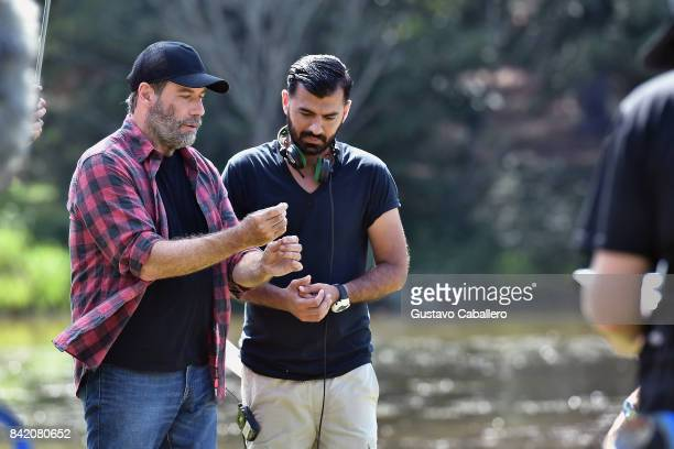 John Travolta and Karzan Kader is on The Set Of The Movie Trading Paint on September 1 2017
