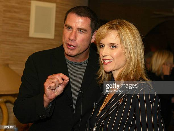 "John Travolta and Kelly Preston at ""One World, One Child Benefit Concert"" for the Children's Health Environmental Coalition honoring Meryl Streep,..."