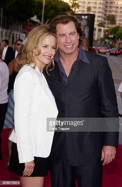 John Travolta and Kelly Preston at the premiere of 'Swordfish'