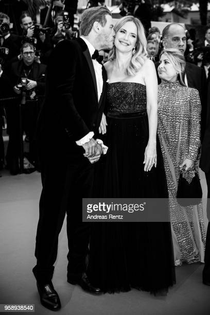 John Travolta and Kelly Preston attend the screening of Solo A Star Wars Story during the 71st annual Cannes Film Festival at Palais des Festivals on...