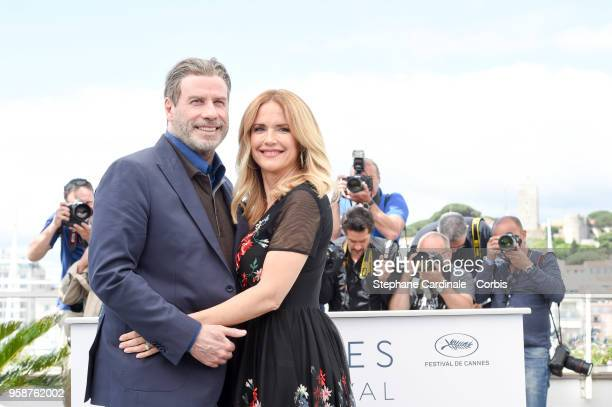 "John Travolta and Kelly Preston attends ""Rendezvous With John Travolta - Gotti"" Photocall during the 71st annual Cannes Film Festival at Palais des..."