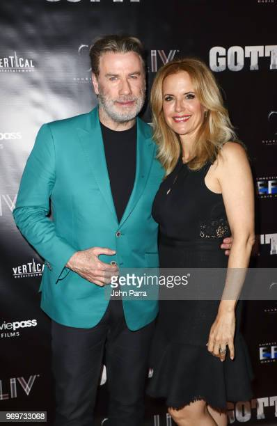 John Travolta And Kelly Preston Celebrate Their New Film Gotti at Fontainebleau Hotel on June 7 2018 in Miami Beach Florida
