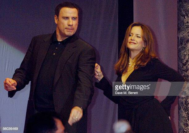 John Travolta and Kelly Preston dance on stage at the Church of Scientology Annual Gala charity concert headed by Isaac Hayes at Saint Hill Manor on...