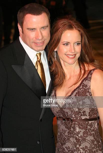 John Travolta and Kelly Preston during 2006 Vanity Fair Oscar Party at Morton's in West Hollywood California United States
