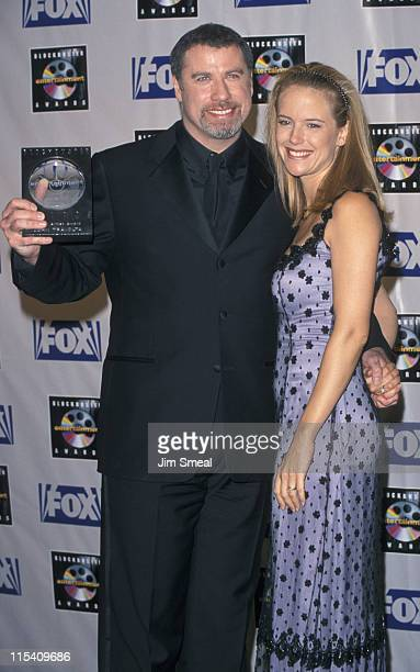 John Travolta and Kelly Preston during 5th Annual Blockbuster Entertainment Awards at Shrine Auditorium in Los Angeles California United States