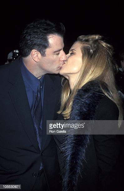 John Travolta and Kelly Preston during New York Premiere of 'Primary Colors' March 16 1998 at Ziegfeld Theatre in New York City New York United States