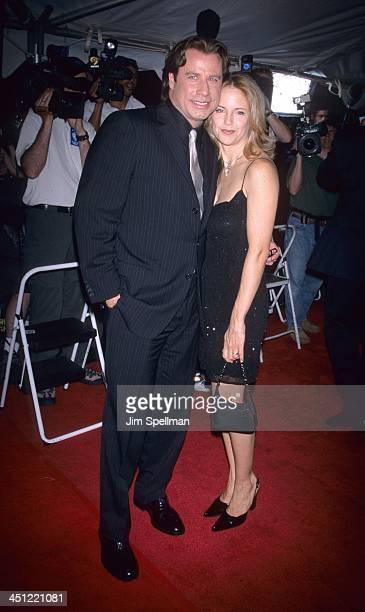 John Travolta and Kelly Preston during Swordfish New York Premiere at Ziegfeld Theatre in New York City New York United States