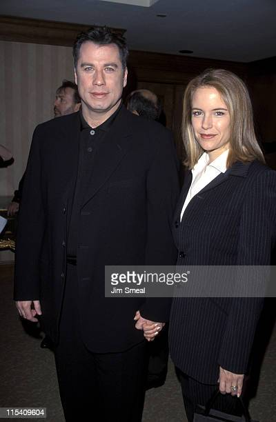 John Travolta and Kelly Preston during The 4th Annual Broadcast Film Critics Awards at Hotel Sofitel in Los Angeles California United States