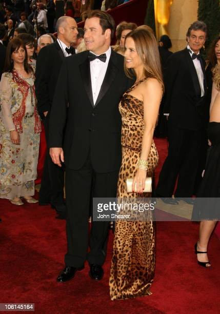 John Travolta and Kelly Preston during The 79th Annual Academy Awards Arrivals at Kodak Theatre in Los Angeles California United States