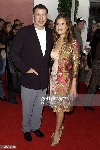 John Travolta and Kelly Preston during The Cat In The Hat World Premiere at Universal Studios Cinema in Universal City California United States