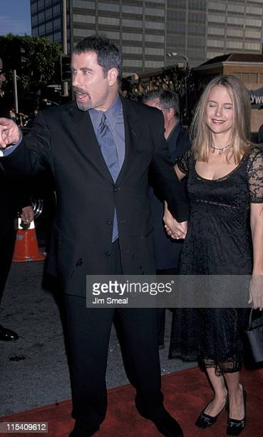 John Travolta and Kelly Preston during 'The General's Daughter' Los Angeles Premiere at Mann National Theatre in Westwood California United States