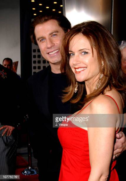 John Travolta and Kelly Preston during 'The Punisher' Los Angeles Premiere Red Carpet at ArcLight Theater in Hollywood California United States