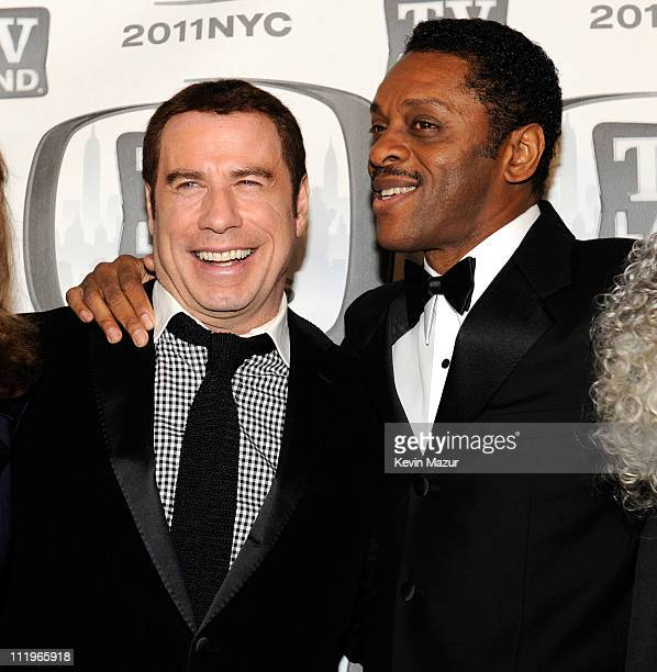 John Travolta and Lawrence HiltonJacobs attends the 9th Annual TV Land Awards at the Javits Center on April 10 2011 in New York City