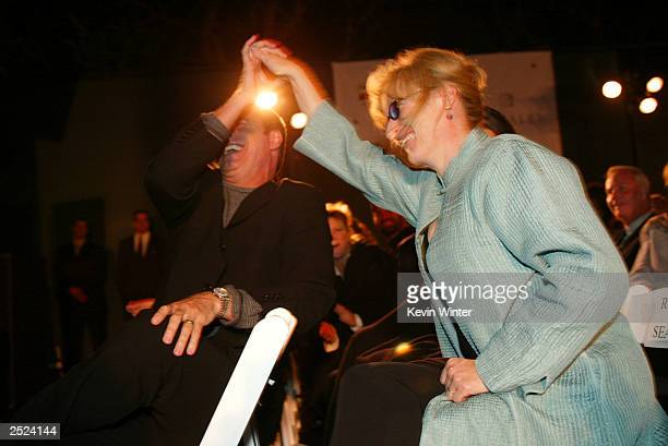 "John Travolta and Meryl Streep at ""One World, One Child Benefit Concert"" for the Children's Health Environmental Coalition honoring Meryl Streep,..."