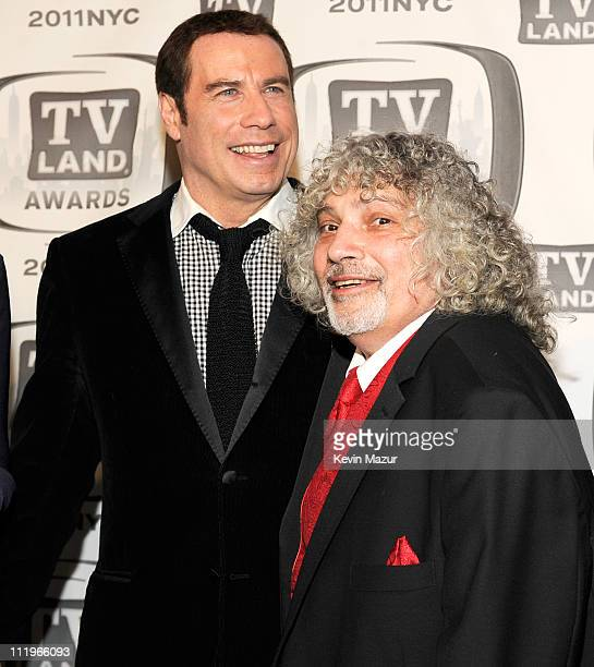 John Travolta and Robert Hegyes attends the 9th Annual TV Land Awards at the Javits Center on April 10 2011 in New York City