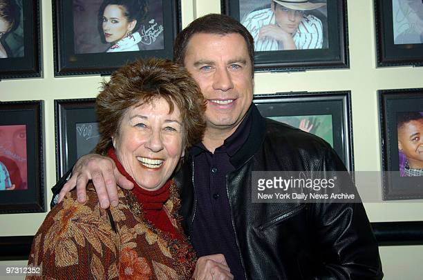 John Travolta and sister Helen get together backstage before his appearance on Last Call with Carson Daly at NBC Studios