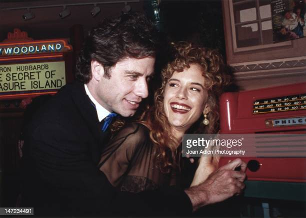 John Travolta and wife Kelly Preston at the opening of the Church of Scientology Museum in Los Angeles