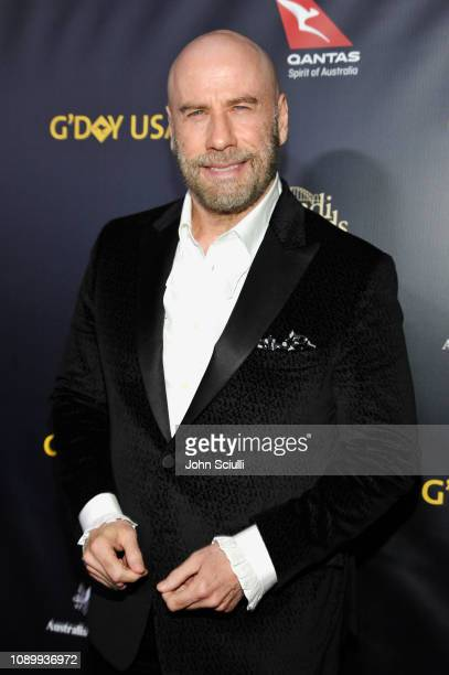 John Travolta attends the 2019 G'Day USA Gala at 3LABS on January 26 2019 in Culver City California