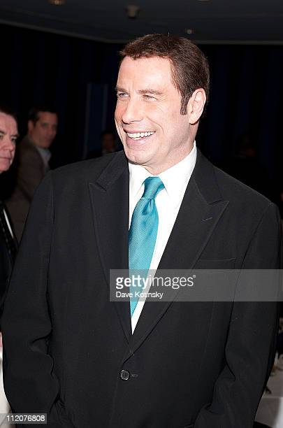 John Travolta attends the celebration of Frank Gotti's 21st birthday with the cast of Gotti Three Generations at the Sheraton New York Hotel and...
