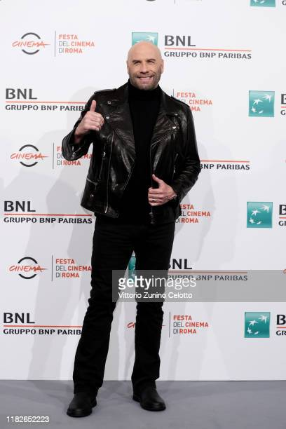 John Travolta attends the photocall during the 14th Rome Film Festival on October 22 2019 in Rome Italy