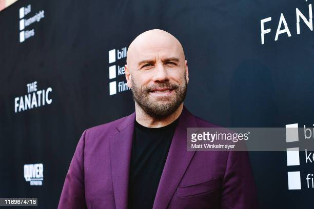 """John Travolta attends the premiere of Quiver Distribution's """"The Fanatic"""" at the Egyptian Theatre on August 22, 2019 in Hollywood, California."""