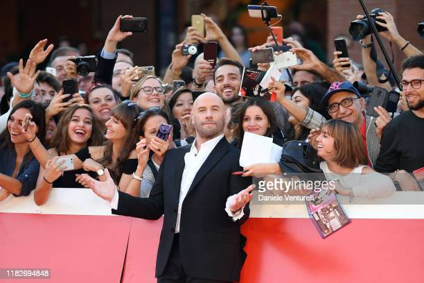 John Travolta attends the red carpet during the 14th Rome Film Festival on October 22 2019 in Rome Italy