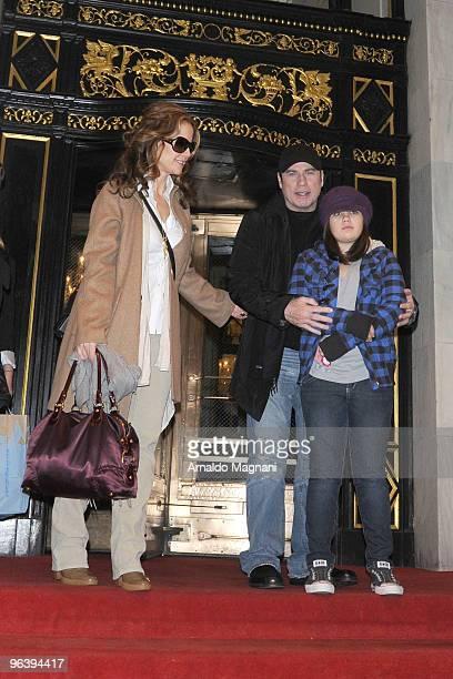 John Travolta his wife Kelly Preston and their daughter Ella Travolta are seen on February 3 2010 in New York City