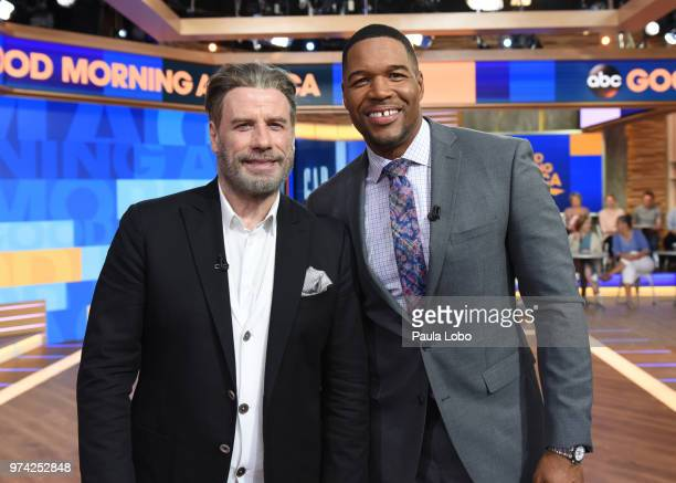 AMERICA John Travolta is a guest on Good Morning America Thursday June 14 2018 airing on the Walt Disney Television via Getty Images Television...