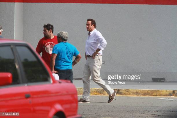 John Travolta is seen on the set of 'Cigarette Speed Money Murder' on July 14 2017 in San Juan Puerto Rico