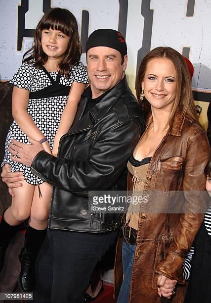 John Travolta Kelly Preston and daughter