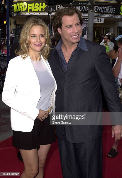 John Travolta Kelly Preston during Swordfish Premiere at Mann Village Theatre in Westwood California United States