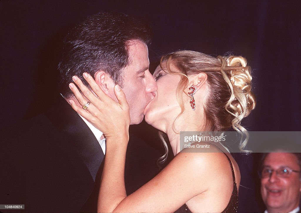 John Travolta & Kelly Preston during The 12th Annual Moving Picture Ball American Cinematheque Award Honoring John Travolta at Beverly Hilton Hotel in Beverly Hills, California, United States.