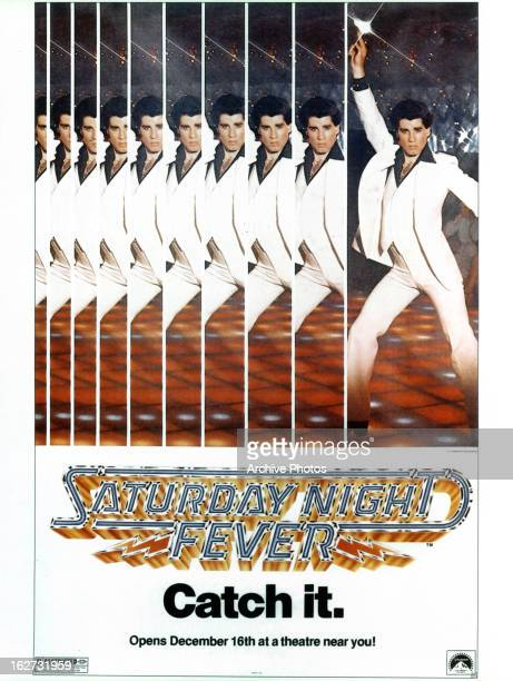 John Travolta movie art for the film 'Saturday Night Fever' 1977