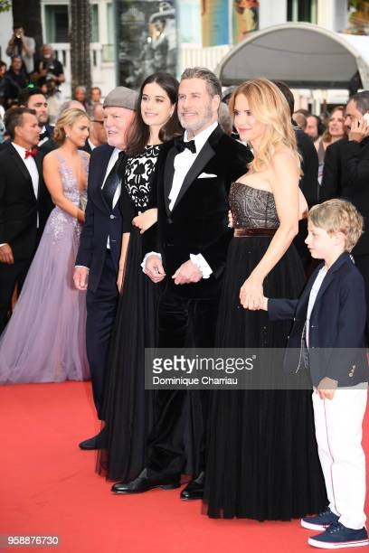 John Travolta of Gotti and Kelly Preston pose with their children Ella Bleu Travolta and Benjamin Travolta at the red carpet screening of Solo A Star...