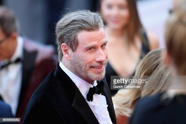 John Travolta of 'Gotti' attend the red carpet screening of 'Solo A Star Wars Story' during the 71st annual Cannes Film Festival at Palais des...