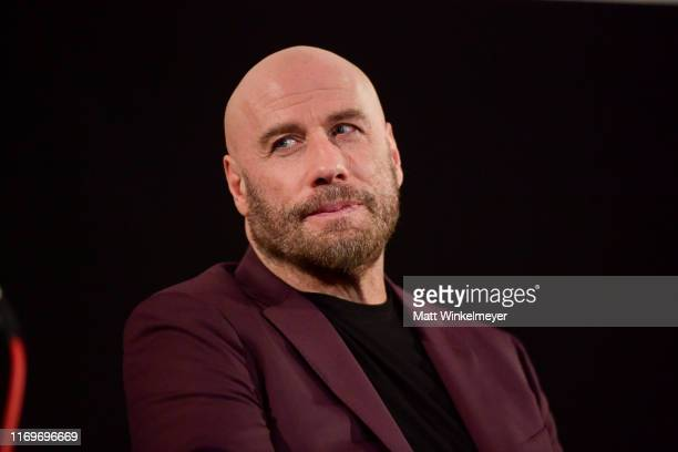 John Travolta speaks onstage during the premiere of Quiver Distribution's The Fanatic on August 22 2019 in Hollywood California