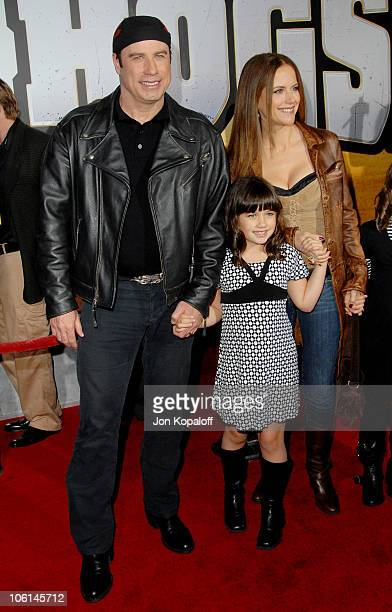 John Travolta wife Kelly Preston and daughter during 'Wild Hogs' Los Angeles Premiere Arrivals at El Capitan Theater in Hollywood California United...
