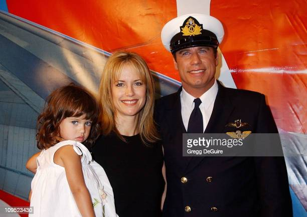 John Travolta with wife Kelly Preston daughter Ella Bleu