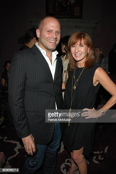 John Truex and Nicole Miller attend DIANE VON FURSTENBERG and RICHARD LAMBERSTON toast ROBERT LEE MORRIS at Rose Bar Gramercy Park Hotel NYC on May 3...