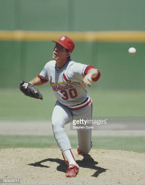 John Tudor pitcher for the St Louis Cardinals during the Major League Baseball National League West game against the San Diego Padres on 10 July 1986...