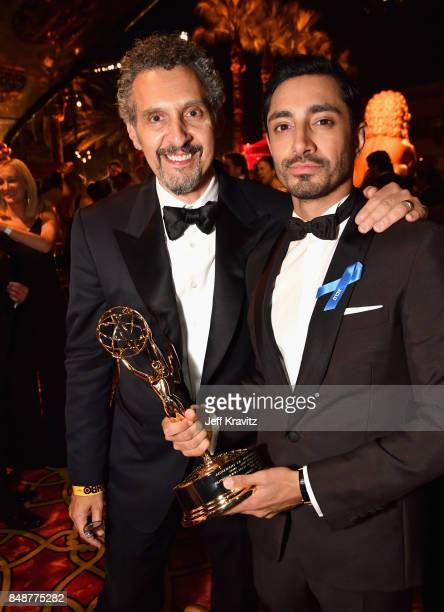 John Turturro and Riz Ahmed attend the HBO's Official 2017 Emmy After Party at The Plaza at the Pacific Design Center on September 17 2017 in Los...