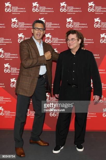 John Turturro and Roman Paska attend the 'Prove Per Una Tragedia Siciliana' photocall at the Palazzo del Casino during the 66th Venice Film Festival...