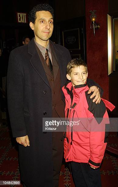 John Turturro and son Amedeo during O Brother Where Art Thou New York Premiere at Ziegfeld Theatre in New York City New York United States