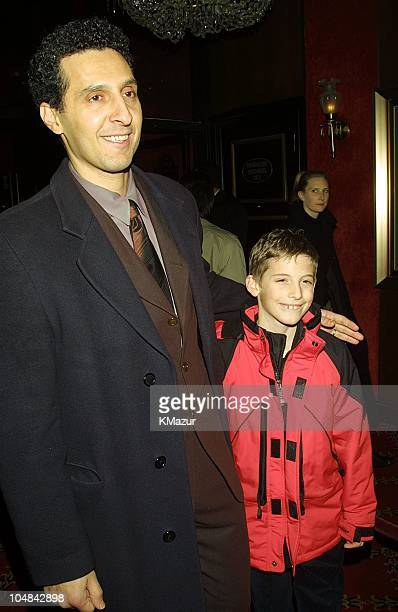 John Turturro and son Amedeo during 'O Brother Where Art Thou' New York Premiere at Ziegfeld Theatre in New York City New York United States