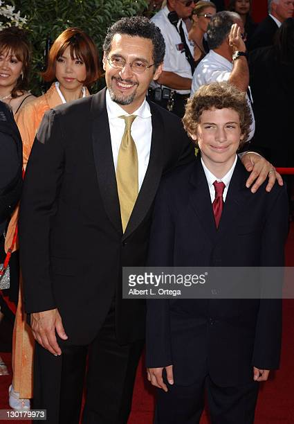 John Turturro and son Amedeo during The 56th Annual Primetime Emmy Awards Arrivals at The Shrine Auditorium in Los Angeles California United States