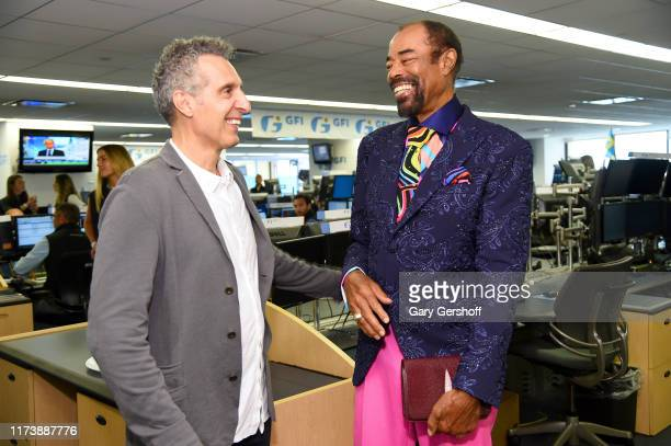 """John Turturro and Walt """"Clyde"""" Frazier attend Annual Charity Day Hosted By Cantor Fitzgerald, BGC and GFI on September 11, 2019 in New York City."""